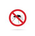 no mosquito sign icon vector image