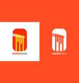 noodle and chopstick logo design template vector image