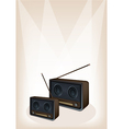 Old Radio Stage Background vector image vector image