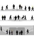 pedestrian zones in urban scenery vector image vector image