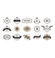 quality emblem premium vintage badges luxury vector image