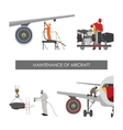 Repair and maintenance aircraft vector image vector image