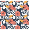 Seamless Tribal Pattern with toucans vector image vector image