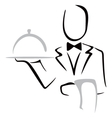 Serving dinner vector image vector image