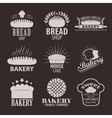 set bakery and bread shop logos labels badges vector image