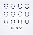 set of different shields templates for design vector image