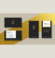 set premium business card design vector image vector image