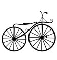 silhouette retro bicycle isolated vector image
