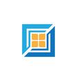 square windows business logo vector image