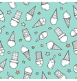 Tasty ice creams seamless pattern Hand drawing vector image vector image