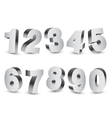Three-dimensional Numbers vector image