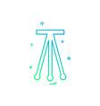 tripod icon design vector image