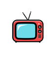 tv icon cartoon isolated on vector image vector image