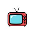 tv icon cartoon isolated vector image