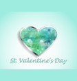 watercolor heart on a color background vector image vector image