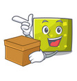 with box square character cartoon style vector image
