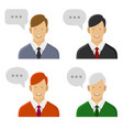 people talking icon set man with text bubbles vector image