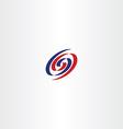 number 69 spiral logo sign vector image