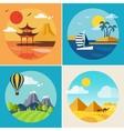 Summer Vacation Landscape Set vector image