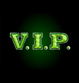 vip letter diamond vector image
