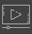 video marketing line icon seo and development vector image