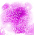 abstract bright pink watercolor blob on white vector image vector image