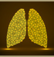 abstract human lung glowing dots neons vector image