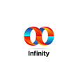 abstract infinite logo symbol icon vector image