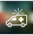 Ambulance icon vector image