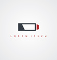battery power icon sign logotype vector image vector image