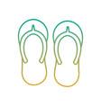 beach pair flip flops accessories icon vector image vector image