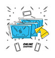 bills money shopping online concept vector image vector image