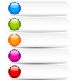 blank white buttons with glossy colorful circles vector image vector image