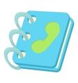 Blue address book icon cartoon style vector image