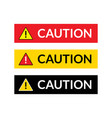 caution sign icon danger warning attention vector image vector image