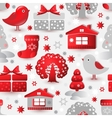 Christmas seamless pattern Include tree house vector image