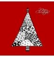 Christmas tree doodle pattern for your design vector image vector image