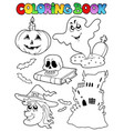 coloring book halloween topic 9 vector image