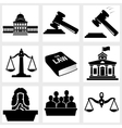 Court icon vector image