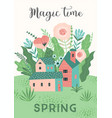 cute with spring landckape vector image