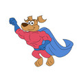dog super hero flying vector image vector image