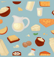 farm food milk and cheese seamless pattern dairy vector image vector image