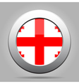Flag of Georgia Shiny metal gray round button vector image vector image