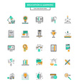 Flat Line Color Icons Education vector image vector image