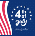 fourth july retro poster template vector image vector image