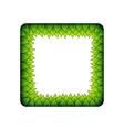 green inner leaves square frame vector image vector image