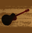 guitar brand vector image
