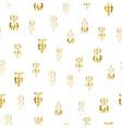 hand drawn boho golden dream catcher celestial vector image vector image