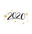 handwritten lettering 2020 hand drawn numbers for vector image
