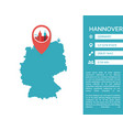 hannover map infographic vector image vector image